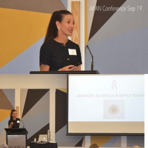 Danielle Scott speaking at the 2019 APAN conference