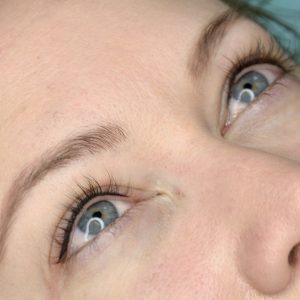 eyeliner highlight before & after